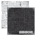 Reminisce - Making the Grade Collection - 12 x 12 Double Sided Paper - Senior