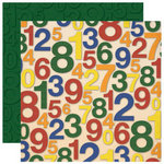 Reminisce - Making the Grade Collection - 12 x 12 Double Sided Paper - I Can Count