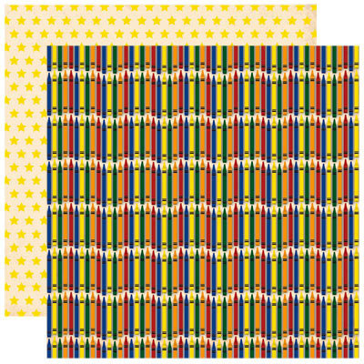 Reminisce - Making the Grade Collection - 12 x 12 Double Sided Paper - Colorful