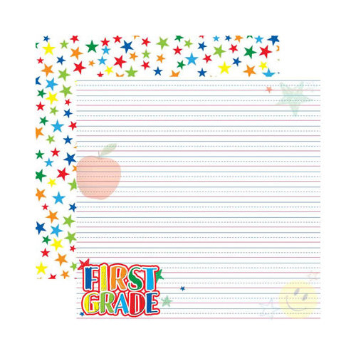 Reminisce - Making the Grade Collection - 12 x 12 Double Sided Paper - First Grade 2