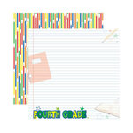 Reminisce - Making the Grade Collection - 12 x 12 Double Sided Paper - Fourth Grade 2