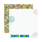 Reminisce - Making the Grade Collection - 12 x 12 Double Sided Paper - Sixth Grade 2
