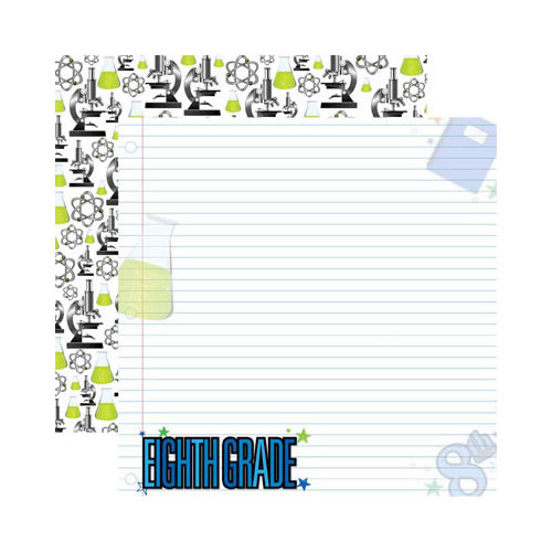 Reminisce - Making the Grade Collection - 12 x 12 Double Sided Paper - Eighth Grade 2