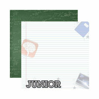 Reminisce - Making the Grade Collection - 12 x 12 Double Sided Paper - Junior 2