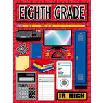 Reminisce - Making the Grade Collection - 3 Dimensional Stickers - Eighth Grade, CLEARANCE