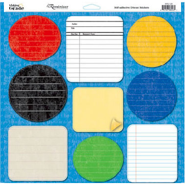 Reminisce - Making the Grade Collection - 12 x 12 Cardstock Stickers - Journal
