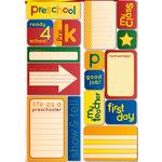 Reminisce - Making the Grade Collection - Die Cut Cardstock Stickers - Preschool Quote