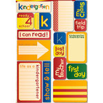 Reminisce - Making the Grade Collection - Die Cut Cardstock Stickers - Kindergarten Quote