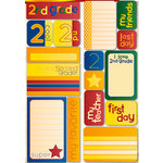 Reminisce - Making the Grade Collection - Die Cut Cardstock Stickers - Second Grade Quote