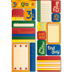 Reminisce - Making the Grade Collection - Die Cut Cardstock Stickers - Third Grade Quote