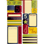 Reminisce - Making the Grade Collection - Die Cut Cardstock Stickers - Fifth Grade Quote