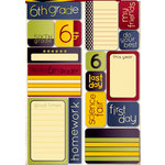 Reminisce - Making the Grade Collection - Die Cut Cardstock Stickers - Sixth Grade Quote
