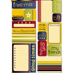 Reminisce - Making the Grade Collection - Die Cut Cardstock Stickers - Freshman Quote