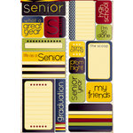 Reminisce - Making the Grade Collection - Die Cut Cardstock Stickers - Senior Quote
