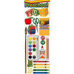 Reminisce - Making the Grade Collection - 3 Dimensional Die Cut Stickers - Preschool