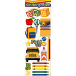 Reminisce - Making the Grade Collection - 3 Dimensional Die Cut Stickers - Kindergarten