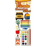 Reminisce - Making the Grade Collection - 3 Dimensional Die Cut Stickers - First Grade