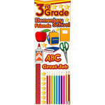 Reminisce - Making the Grade Collection - 3 Dimensional Die Cut Stickers - Third Grade
