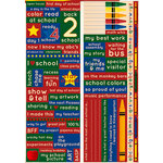 Reminisce - Making the Grade Collection - Die Cut Cardstock Stickers - Elementary Phrase