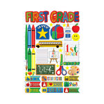 Reminisce - Making the Grade Collection - 3 Dimensional Die Cut Stickers - First Grade 2