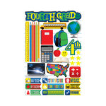 Reminisce - Making the Grade Collection - 3 Dimensional Die Cut Stickers - Fourth Grade 2