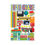 Reminisce - Making the Grade Collection - 3 Dimensional Die Cut Stickers - Fifth Grade 2