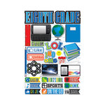 Reminisce - Making the Grade Collection - 3 Dimensional Die Cut Stickers - Eighth Grade 2