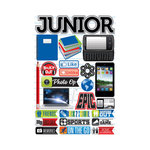 Reminisce - Making the Grade Collection - 3 Dimensional Die Cut Stickers - Junior 2