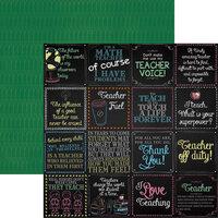 Reminisce - Meet the Teacher Collection - 12 x 12 Double Sided Paper - Teacher Life