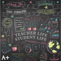 Reminisce - Meet the Teacher Collection - 12 x 12 Elements Sticker