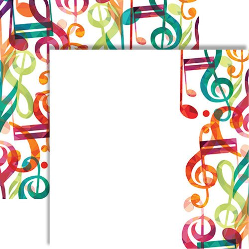 Reminisce - Musicality Collection - 12 x 12 Double Sided Paper - Musical Interlude