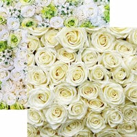 Reminisce - Made with Love Collection - 12 x 12 Double Sided Paper - White Roses