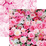 Reminisce - Made with Love Collection - 12 x 12 Double Sided Paper - Rose Bouquet