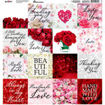 Reminisce - Made with Love Collection - 12 x 12 Cardstock Stickers - Blocks