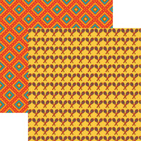 Reminisce - Mexican Fiesta Collection - 12 x 12 Double Sided Paper - Maracas