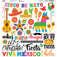 Reminisce - Mexican Fiesta Collection - 12 x 12 Elements Sticker