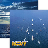 Reminisce - Navy Collection - 12 x 12 Double Sided Paper - 1