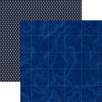Reminisce - Navy Collection - 12 x 12 Double Sided Paper - 3