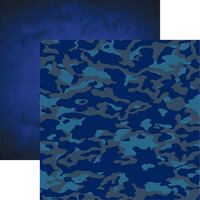 Reminisce - Navy Collection - 12 x 12 Double Sided Paper - 4
