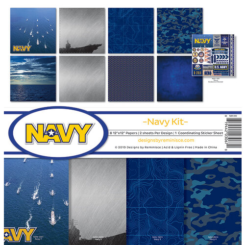 Reminisce - Navy Collection - 12 x 12 Collection Kit
