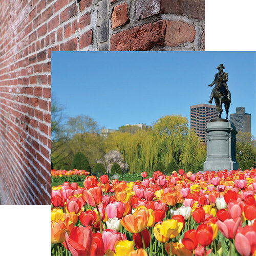 Reminisce - 12 x 12 Double Sided Paper - Boston Public Garden