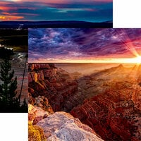 Reminisce - National Parks Collection - 12 x 12 Double Sided Paper - Grand Canyon