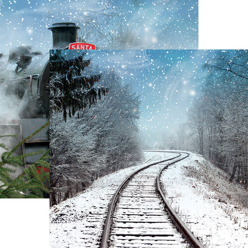 Reminisce - North Pole Express Collection - 12 x 12 Double Sided Paper - All Aboard