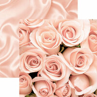 Reminisce - A Night to Remember Collection - 12 x 12 Double Sided Paper - Roses and Satin