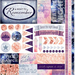 Reminisce - A Night to Remember Collection - 12 x 12 Cardstock Stickers - Elements