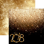 Reminisce - New Year's 2018 Collection - 12 x 12 Double Sided Paper - Golden New Year