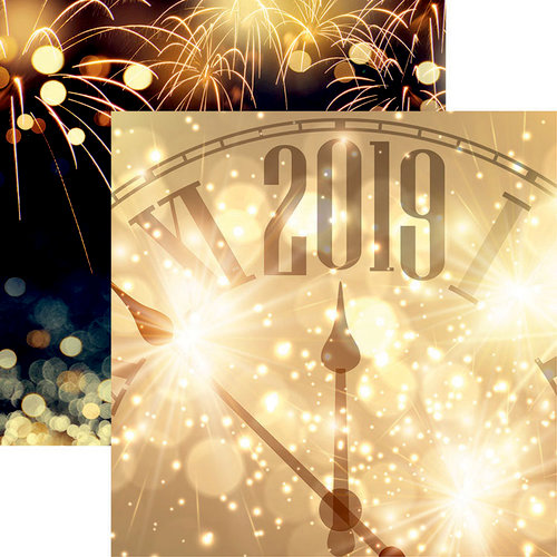 Reminisce - New Year's 2019 Collection - 12 x 12 Double Sided Paper - Happy 2019