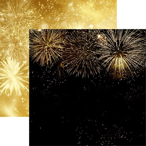 Reminisce - New Years 2020 Collection - 12 x 12 Double Sided Paper - Fireworks