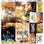 Reminisce - New Year's 2019 Collection - 12 x 12 Cardstock Stickers - Poster