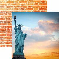 Reminisce - New York Collection - 12 x 12 Double Sided Paper - Lady Liberty